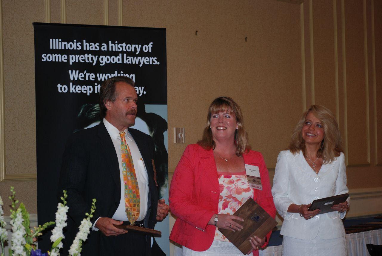 Board of Governors Award recipients Robert Hanaford, Karen Enright, Michele Jochner