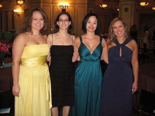 Summer Soiree chairs Heather Fritsch, Debra Liss, Adela Lucchesi, YLD chair Gina Arquilla