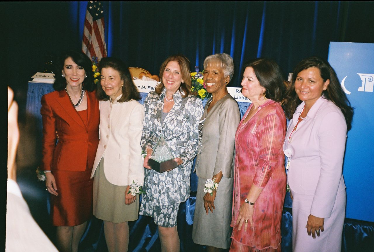 Judge Hubbard joins the other four Brent awardees, as well as the Chair of the ABA's Commission on Women in the Profession (from left): Linda Addison, Helaine Barnett, Chair Roberta Liebenberg, Hon. Arnette Hubbard, Hon. Vanessa Ruiz, Lorreta Tuell.