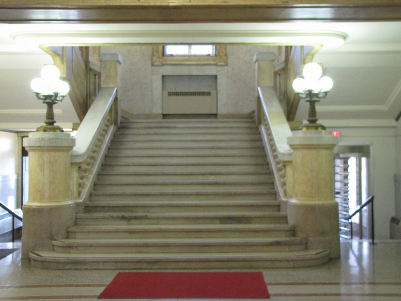 Grand stairway to second floor