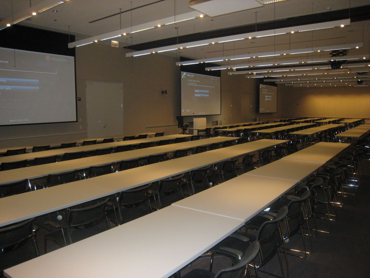 This is the 165-seat training and video conferencing room.