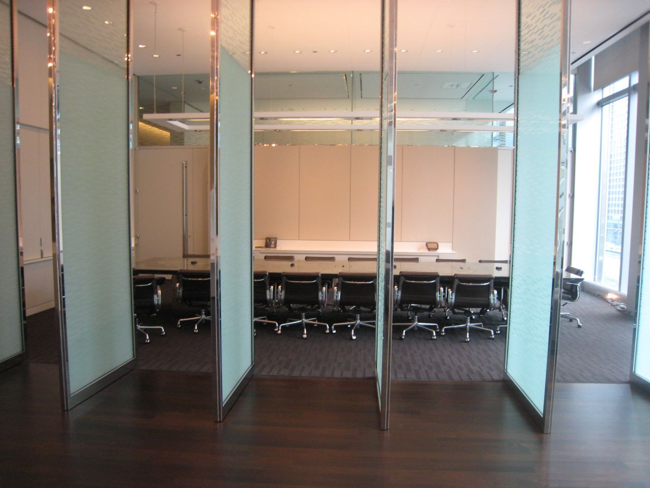 The 6th floor conference room (glass doors close at the push of a button).
