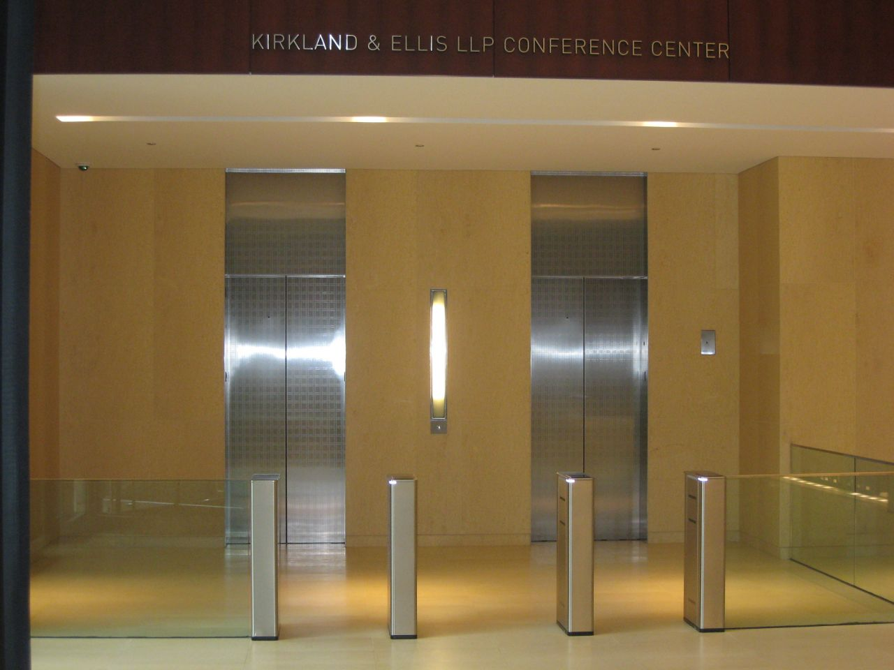 Elevator entrance for guests on the first floor.