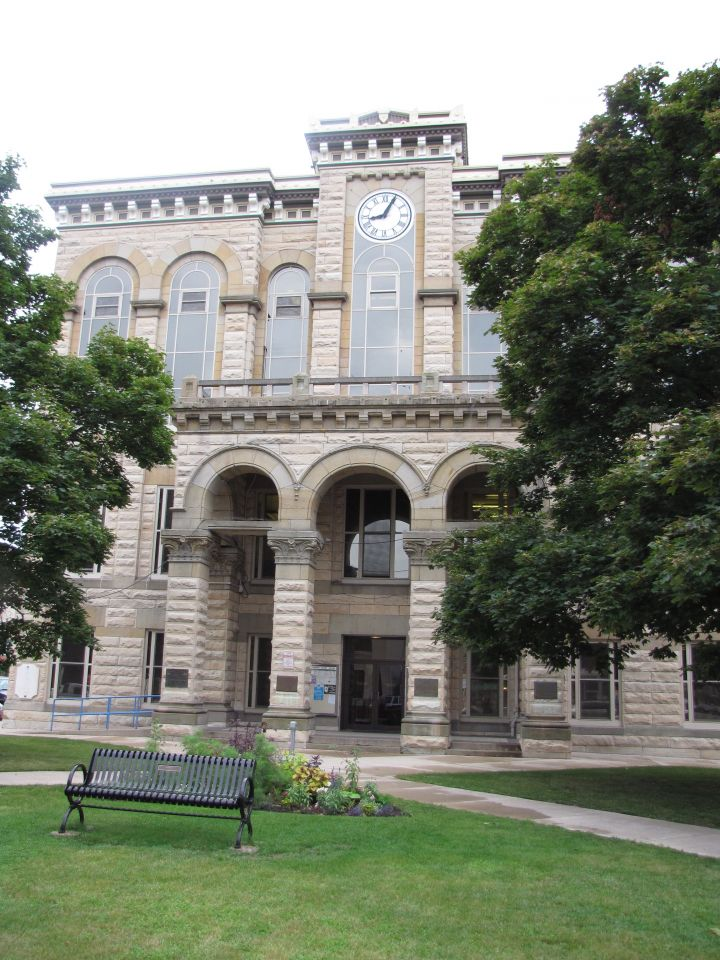 The La Salle County Courthouse was finished in 1883.