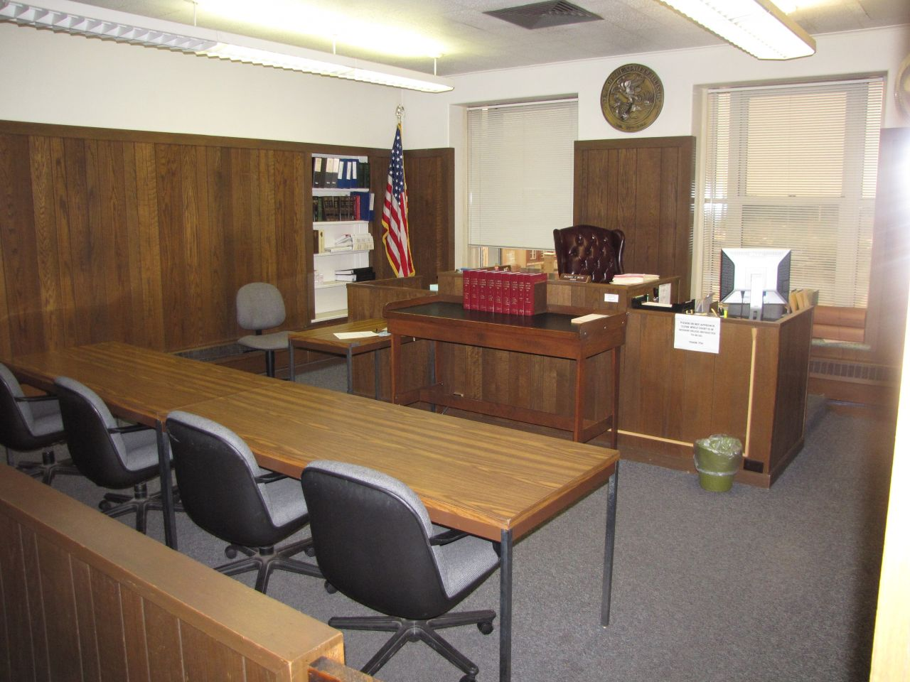 Smaller courtroom