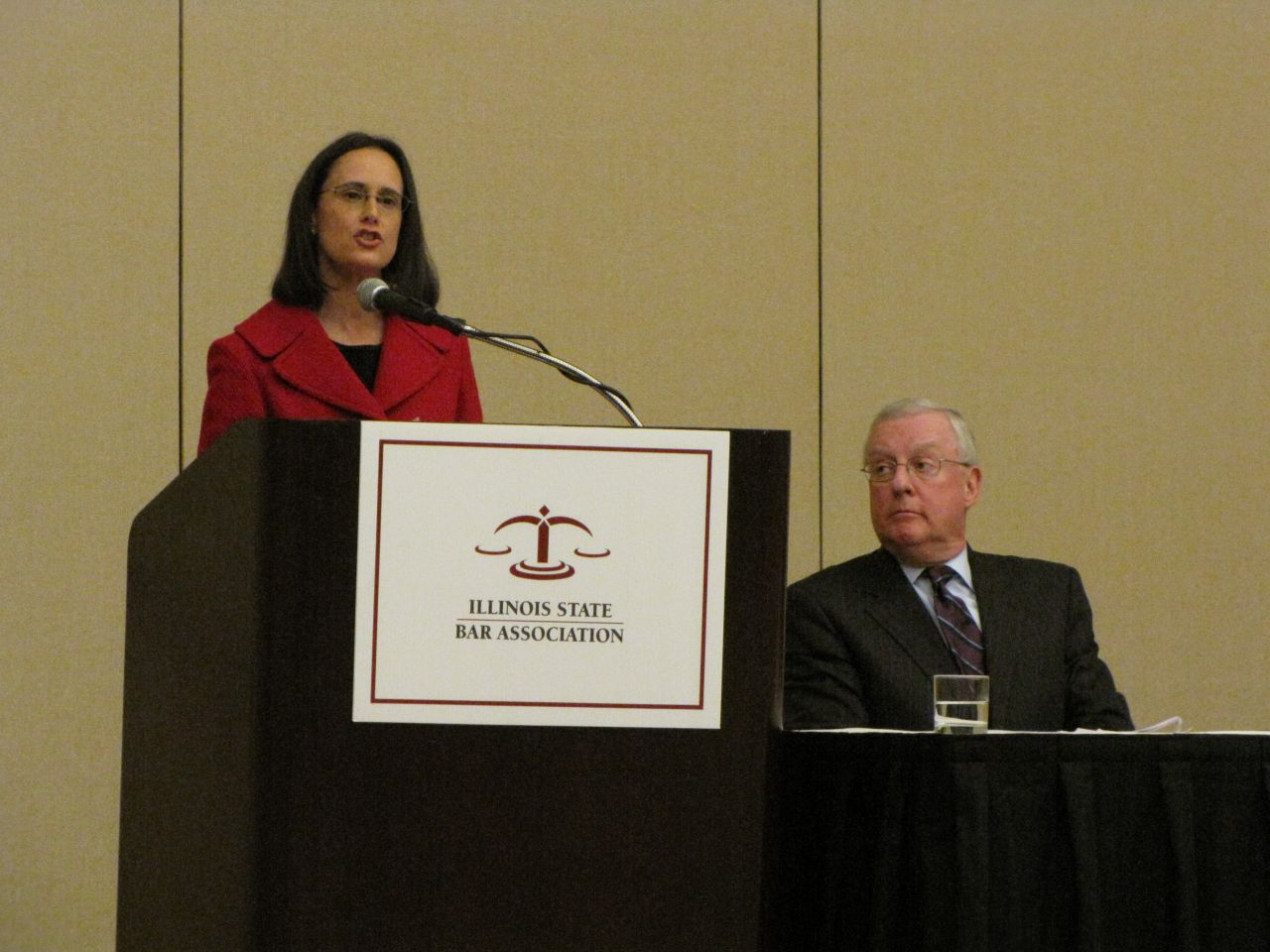 Illinois Attorney General Lisa Madigan delivers the keynote speech.