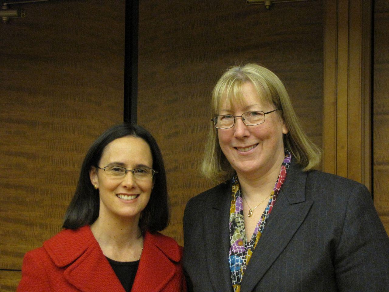 Attorney General Madigan with SIU Law School Professor Alice Noble-Allgire