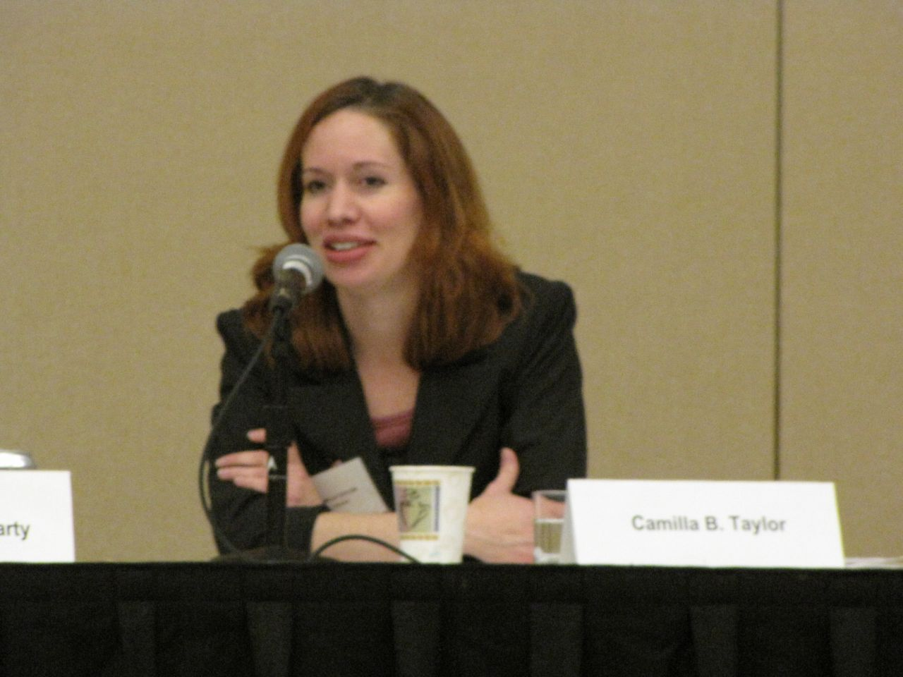 Panelist Camilla Taylor of Lambda Legal