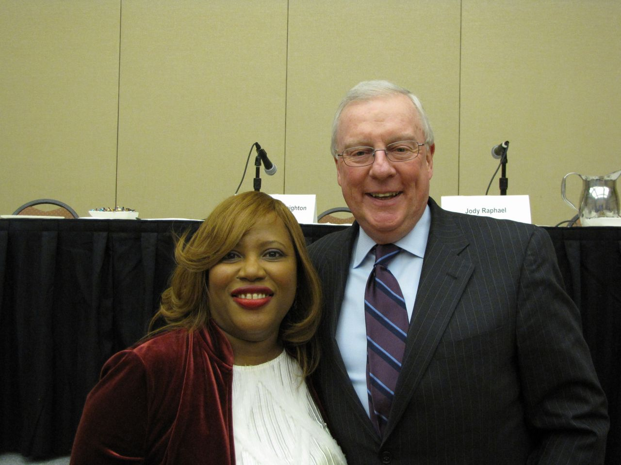 Women's Bar Association President Patrice Ball-Reed with President O'Brien