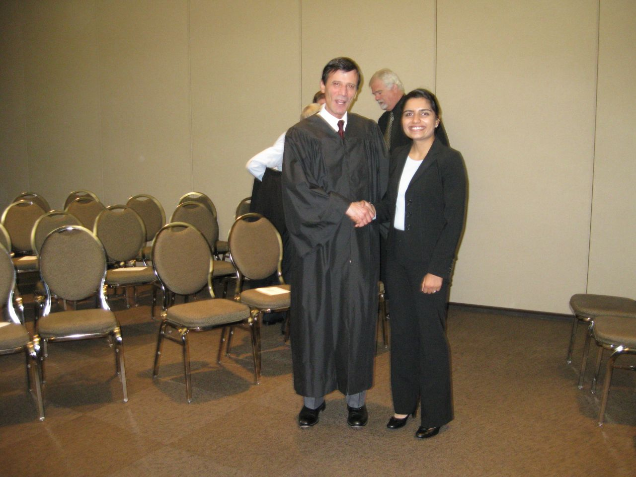 Justice Tom M. Lytton and new admittee Uttara Arora