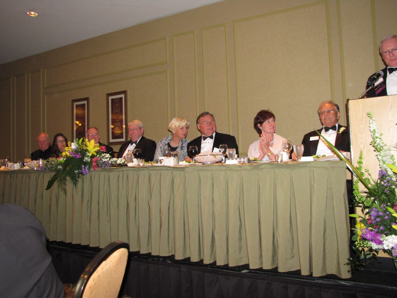 Head table (left)