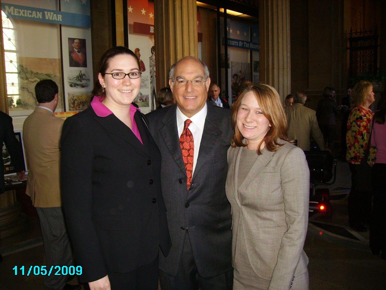 Angelica W. Dietz, ISBA President Elect Mark Hassakis, Lindsey Yanchus