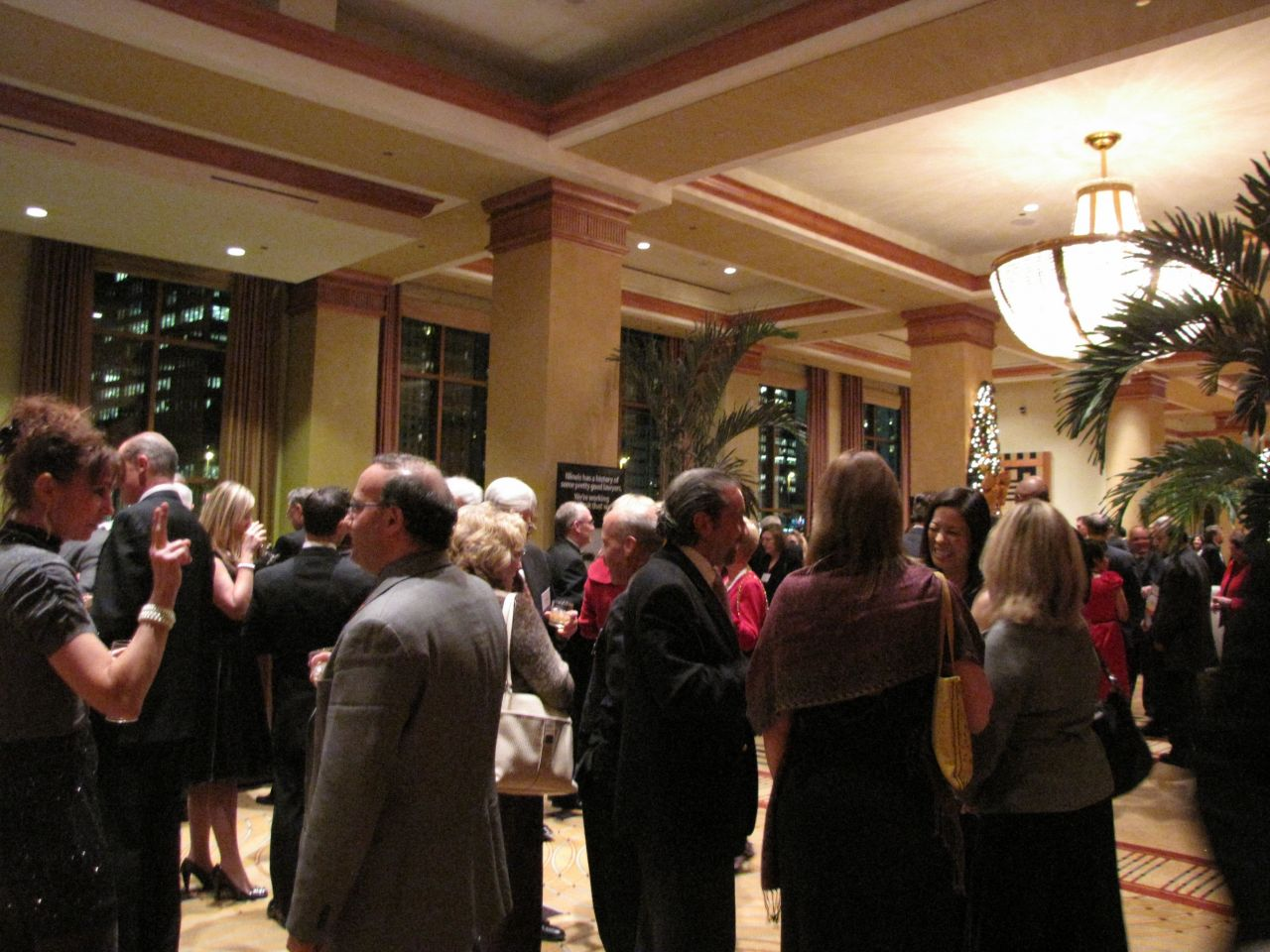The Supreme Court Dinner reception at the Sheraton Chicago Hotel & Towers