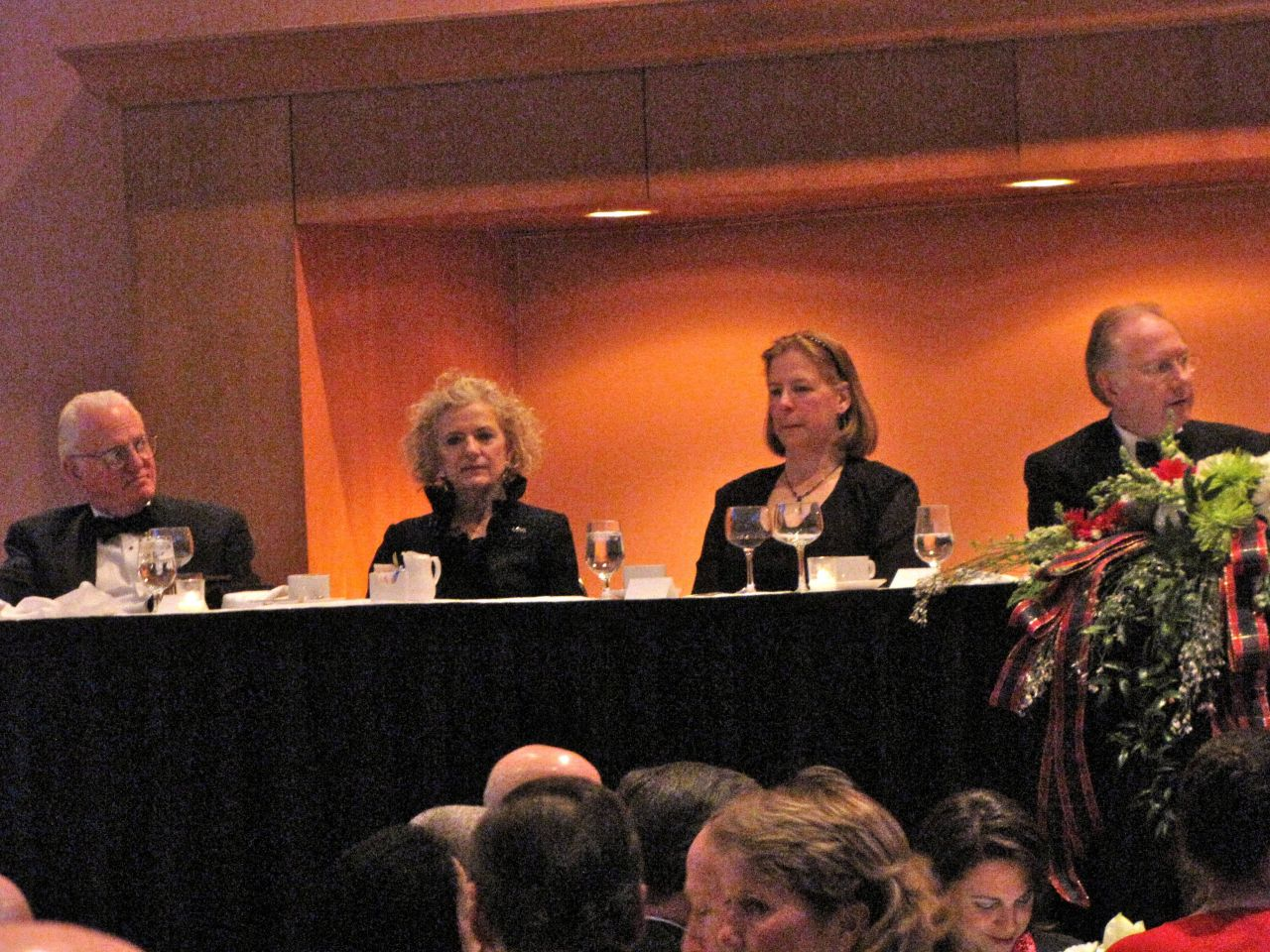 From left (click to enlarge): Chicago Ald. Ed Burke, State Supreme Court Justice Anne Burke, Mary Kilbride, State Supreme Court Justice Thomas Kilbride