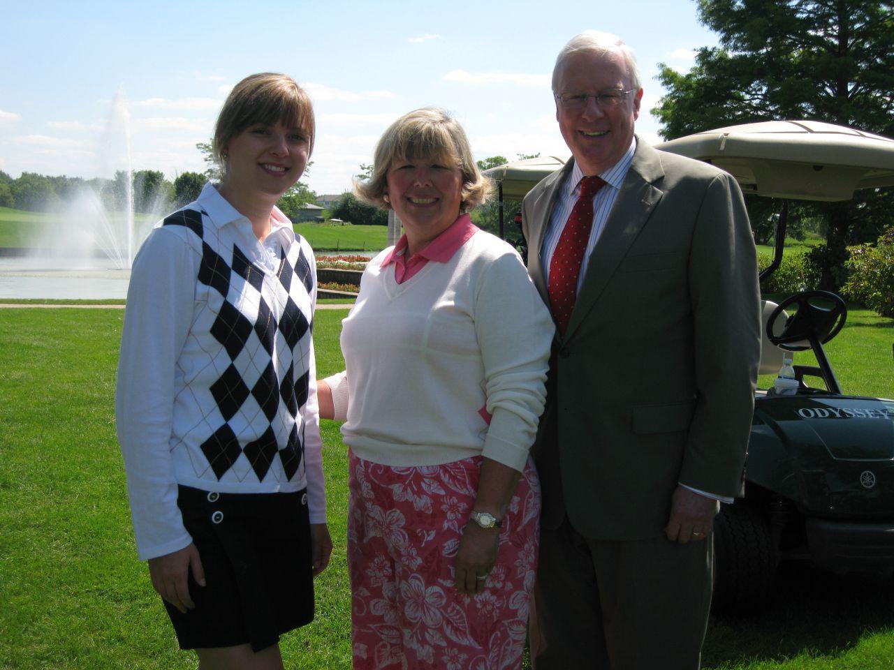 YLD Chair Kelley Gandurski, Board of Governors member Paula Holderman and ISBA President John O'Brien