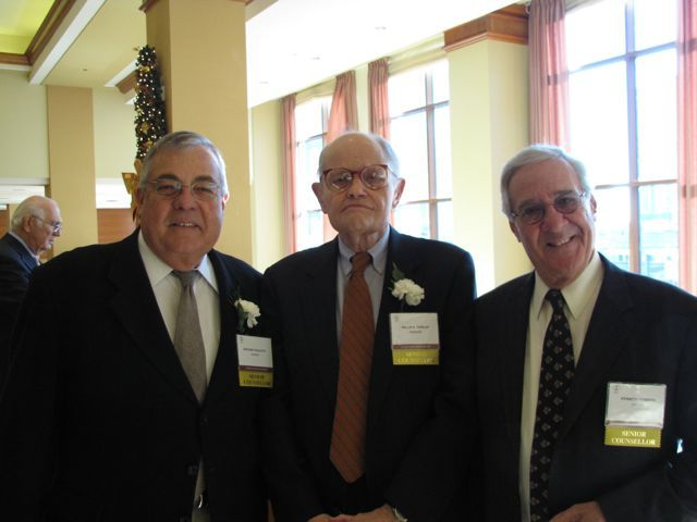 Distinguished Counsellors Kenneth Denberg, Willis Tribler and Anthony Pauletto