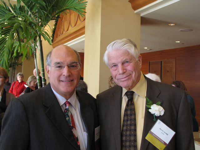 ISBA President Hassakis with Distinguished Counsellor Myles L. Jacobs