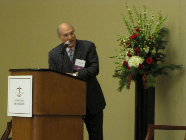 ISBA President Mark Hassakis welcomes the Class.
