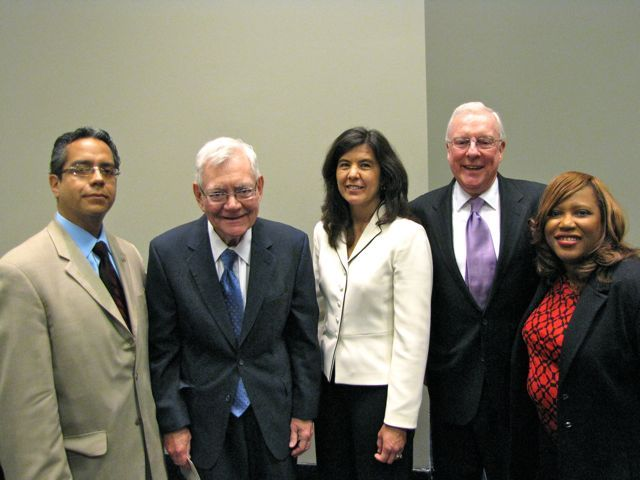 Hispanic Lawyers Association President Leo Lastre, Chief Justice Thomas Fitzgerald, Chicago Bar Association President Anita Alvarez, ISBA President John O'Brien and Women's Bar Association of Illinois President Patrice Ball-Reed