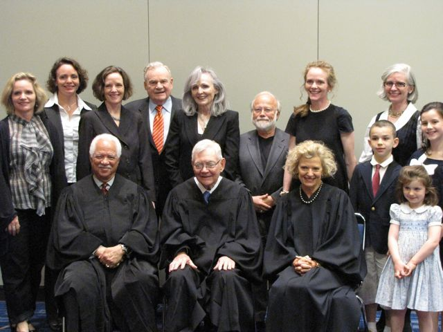 New admittee Agnes Prindiville and family with the justices.