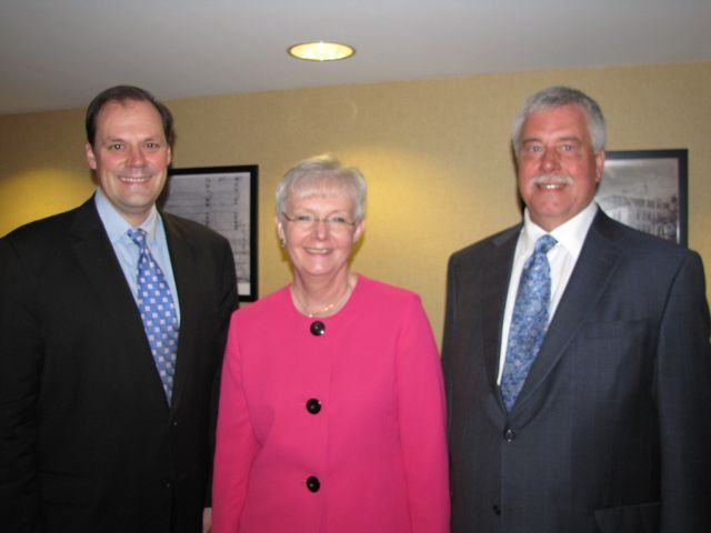 ISBA Secretary Mark Wojcik, Illinois Supreme Court Justice Mary Jane Theis and Illinois Appellate Justice Thomas R. Appleton