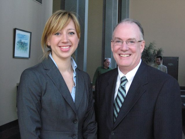 New admittee Jessica Galant and ISBA 3rd VP John Thies