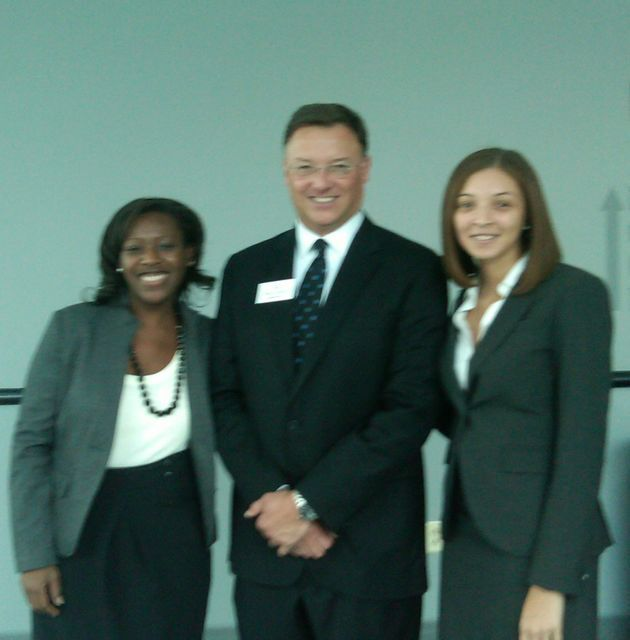 New admittee Lakeiya Maxwell, ISBA President-elect John G. Locallo and new admittee Brittney Broadnax