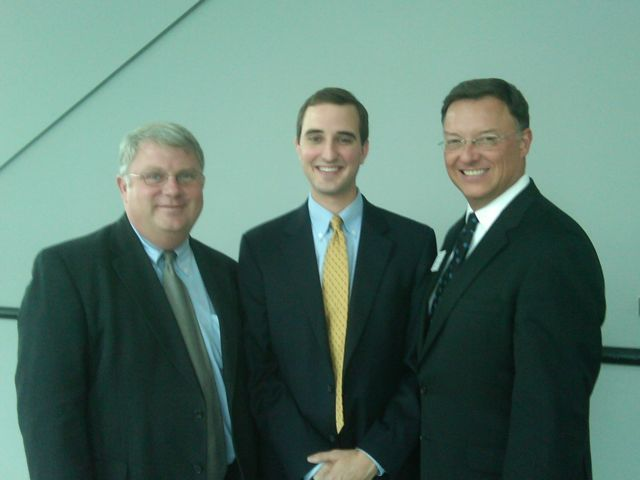 Attorney Dave Wentworth new admittee Dave Wiest and ISBA President-elect John G. Locallo