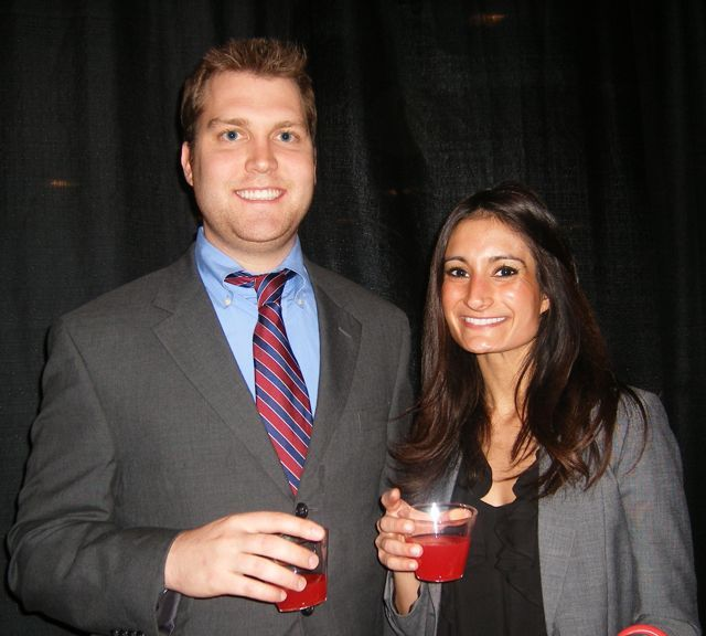 A newly engaged couple, Ryan Bruning and Sherin Joharifard, were also sworn in at the Fifth District ceremony.