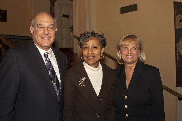 ISBA President Hassakis, Administrative Office of Illinois Courts Director Cynthia Cobbs and Justice Aurelia Pucinski. - Photo by Artur Zadrozny