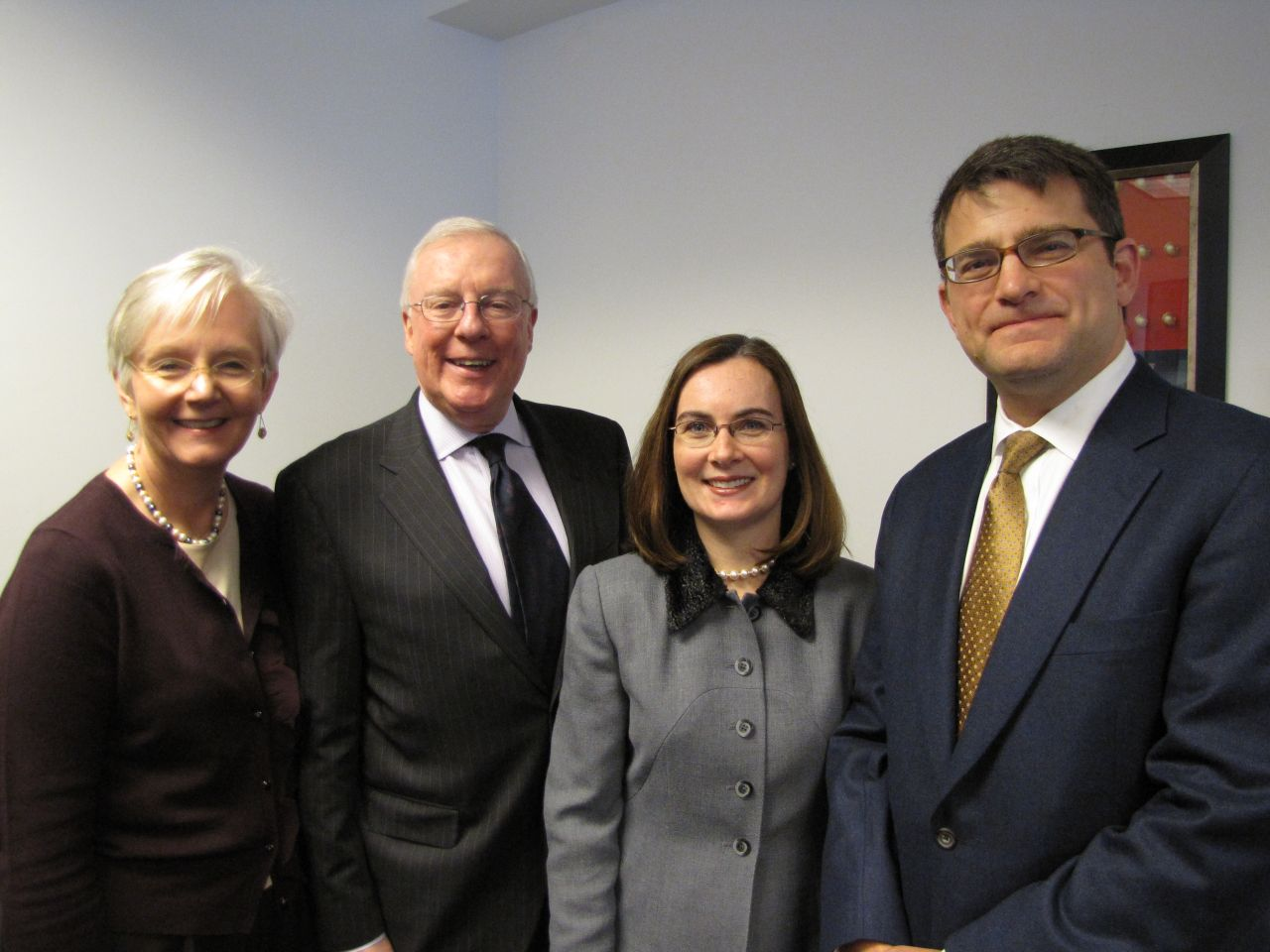 ISBA Board of Govenors member Hon. Mary Jane Theis, ISBA President John O'Brien, Appellate Lawyers Association Vice President Jean Prendergast and Appellate Lawyers Association President Gary Feinerman