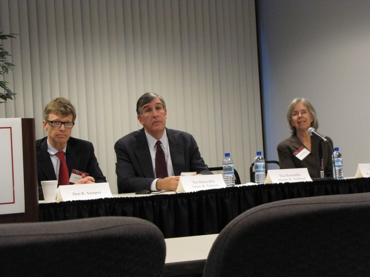 Candidates Don R. Sampen, James R. Epstein and Kathleen G. Kennedy