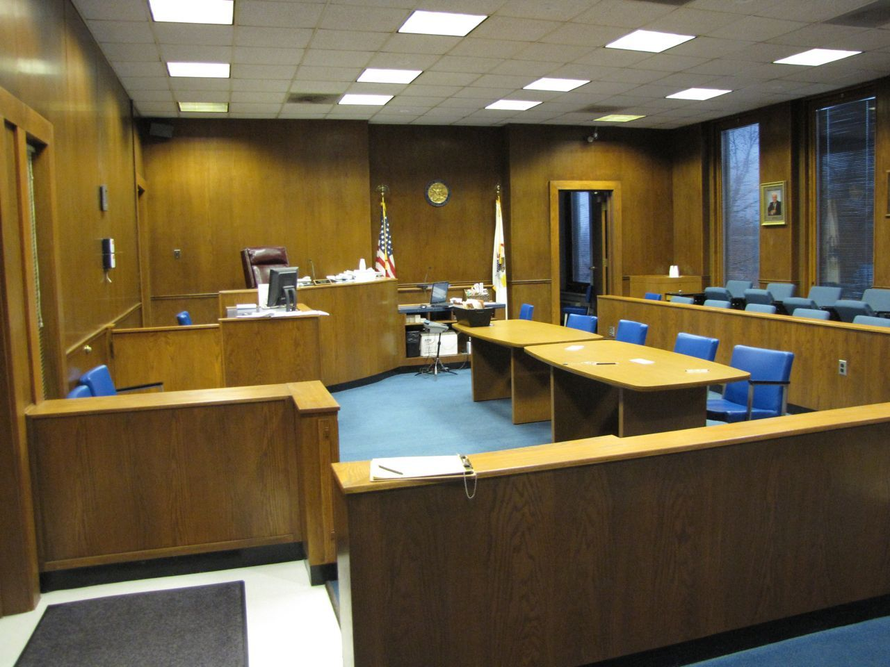 Courtroom A on the third floor