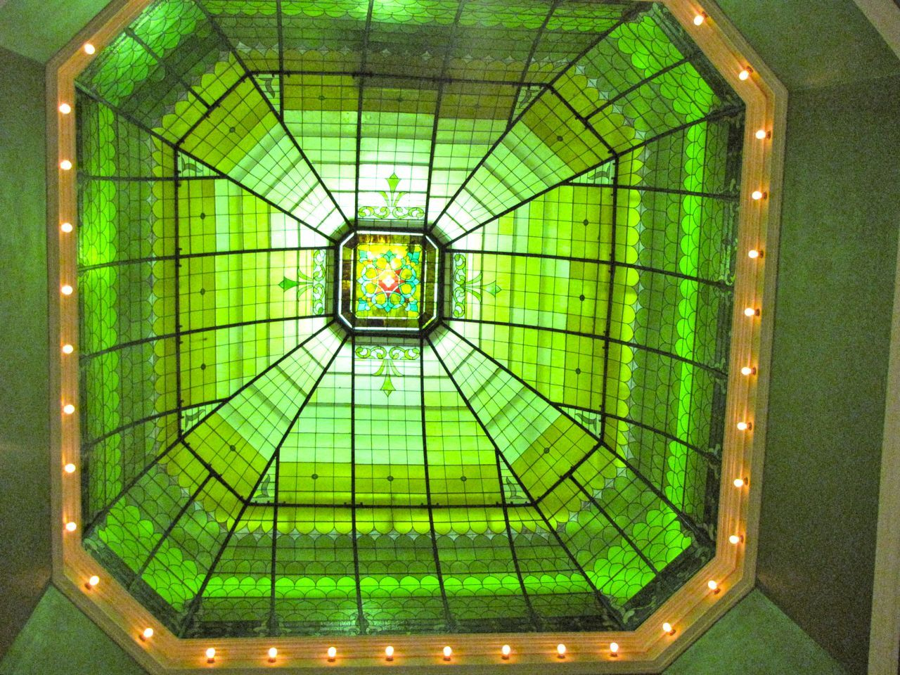 The courthouse held a celebration in December to mark the restoration of the stained-glass dome.