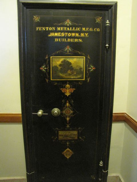 One of 3 original wall safes in the courthouse.