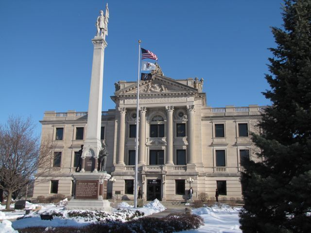 The DeKalb County Courthouse was built in 1904 at 133 W. State in Sycamore.