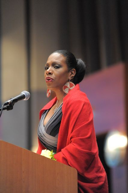 Mistress of Ceremonies, Television and Film Personality Sheryl Lee Ralph, welcomes the attendees.
