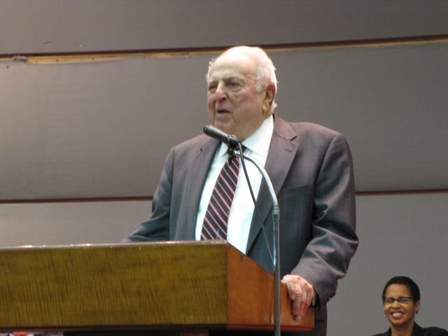 Abner Mikva spoke on behalf of Justice Theis