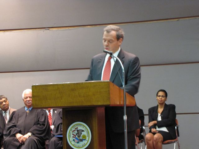 Illinois Senate President John Cullerton started his career with Justice Theis in the Cook County Public Defenders Office in 1974.