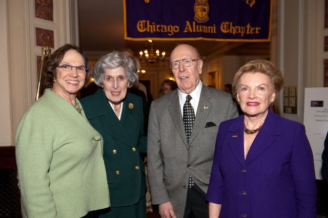 Hon. Susan Fox Gillis, Justice McMorrow, Hon. William A. Bauer, and Janet Piper Voss