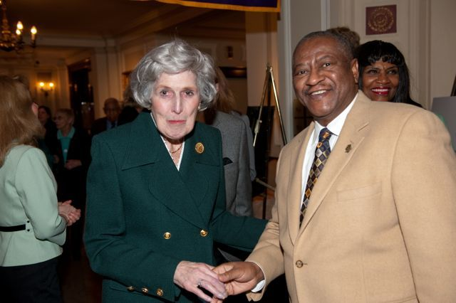 Hon. Mary Ann G. McMorrow and Hon. Lewis Nixon, Incoming President of the Illinois Judges Association
