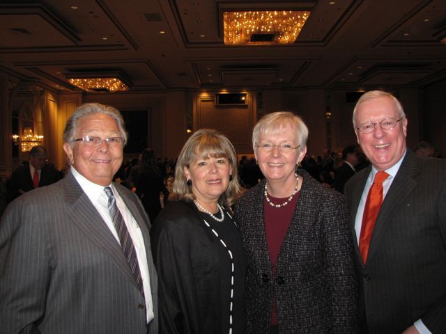ISBA Past President Jack Carey, ISBA 3rd Vice President Paula Holderman, Supreme Court Justice Mary Jane Theis, ISBA Immediate Past President John O'Brien
