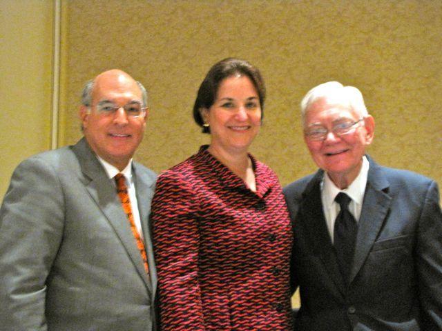 ISBA President Mark Hassakis, CBA President Terri Mascherin and Chief Justice Fitzgerald
