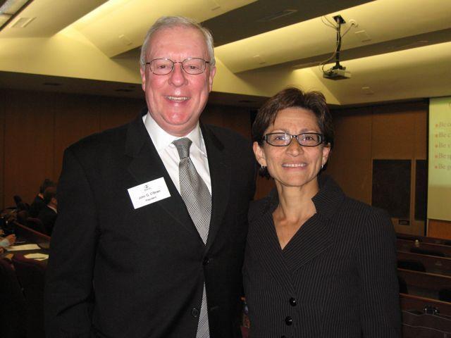 ISBA President John O'Brien and NIU College of Law Dean Jennifer Rosato