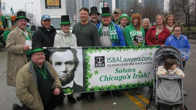ISBA members braved the rain and cold to take part.