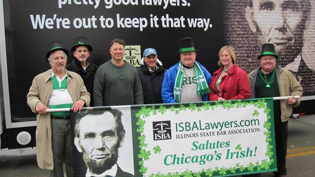 The ISBA's St. Patrick's Day sign and parade billboard