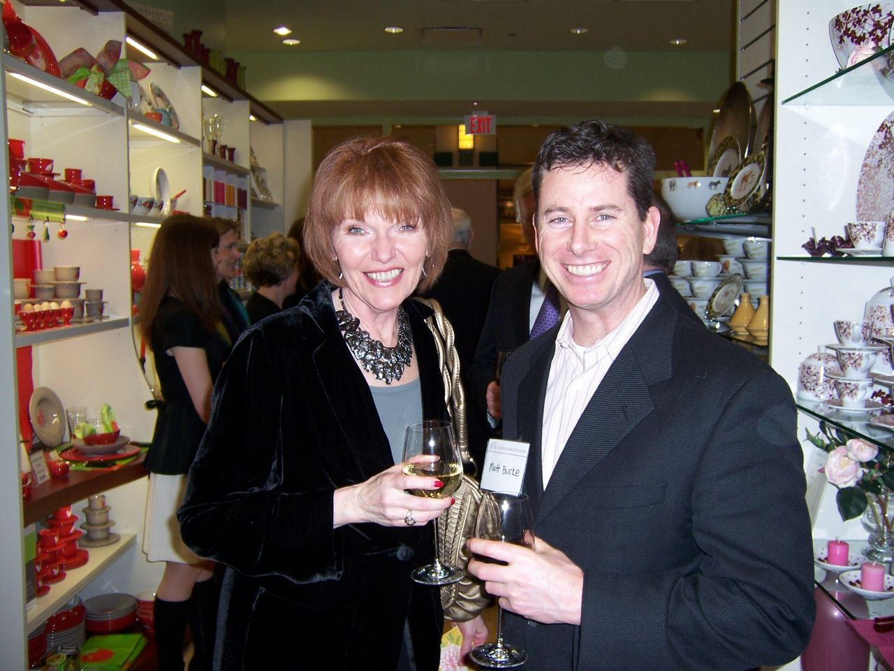 Susan Hartigan and Matt Burke