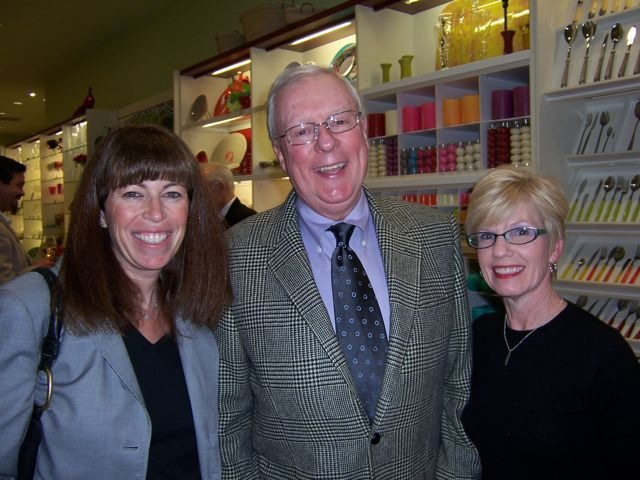 ISBA President John O'Brien with Janet Hassakis (right) and guest