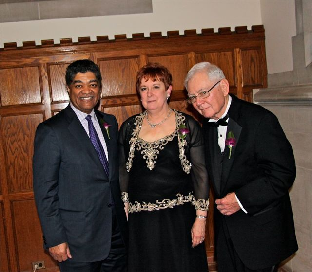 Newly-installed WSBA President Marilyn Longwell with Cook County Chief Judge Timothy Evans and Illinois Supreme Court Chief Justice Thomas R. Fitzgerald.