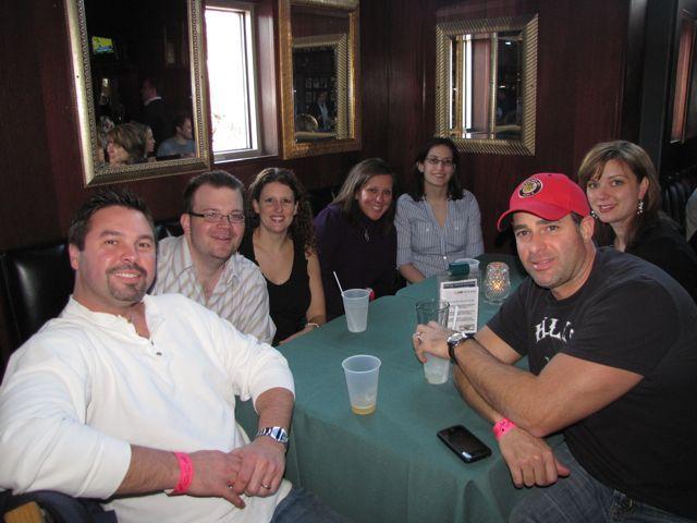Left to right: Board of Governors member Dion Davi, YLD Vice Chair Bob Fink, Sarah Toney, BOG member Gina Arquilla DeBoni, Debra Liss, Frank DeBoni and YLD Chair Kelley Gandurski